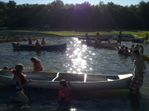 Kids in the water!
