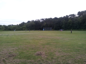 We have such nice green space! What better to do than play capture the flag!