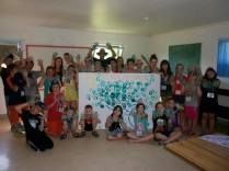 Each child put their hand print on the St. Volodymyr Tree, we will grow together this week