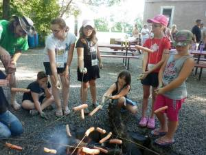 Day 1 - Supper: Hotdogs, Watermelon, Marshmellows