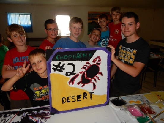 We painted our cabin signs, Cabin #2 is the Scorpion Desert!