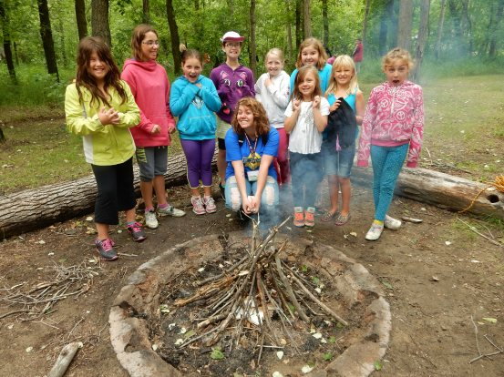 Camp Skills with Dub was really exciting! One of the things we learned was how to build a fire!