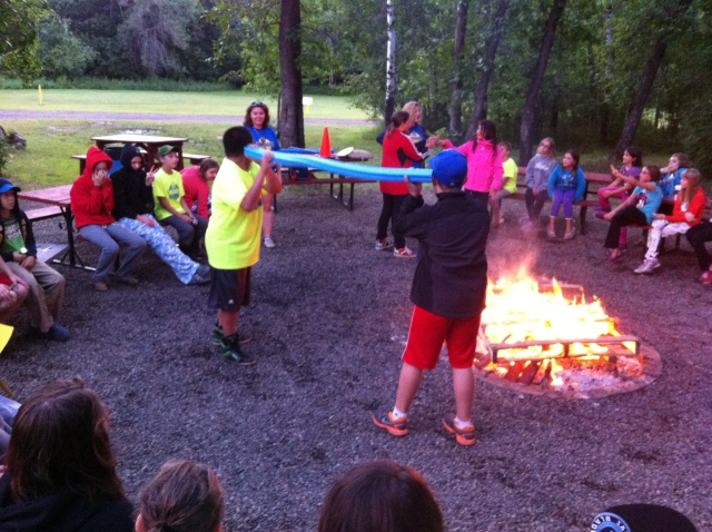 Improv games at campfire!