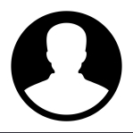 Man icon vector user person profile avatar in flat color glyph p